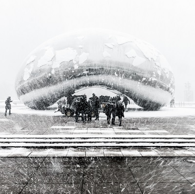 Image of snow storm in chicago il