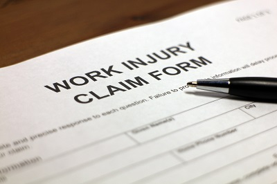 image of work injury form
