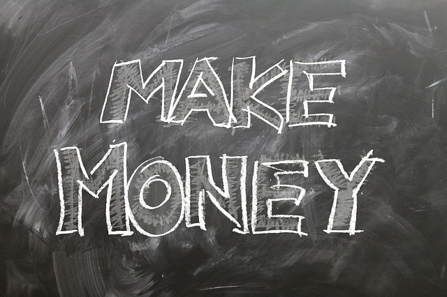 image of chalk board that says make money
