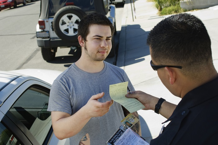 Man Getting Traffic Ticket